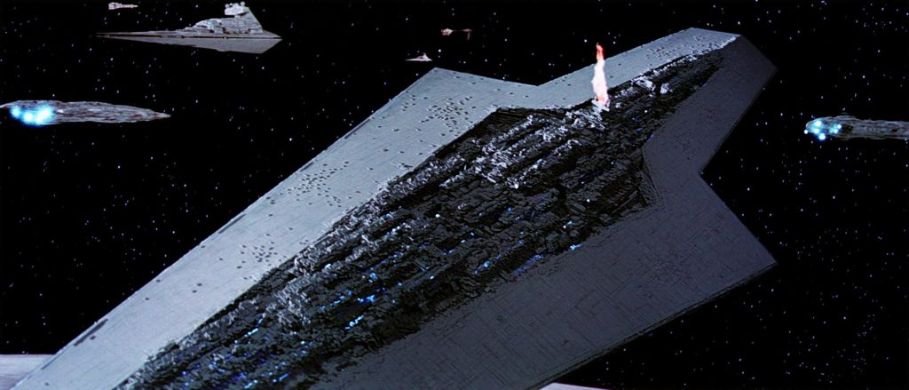 Super Star Destroyer being destroyed