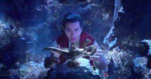Aladdin taking the lamp
