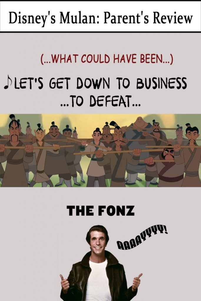 Let's get down to business to defeat the Fonz! AAAAYYYY!!!!