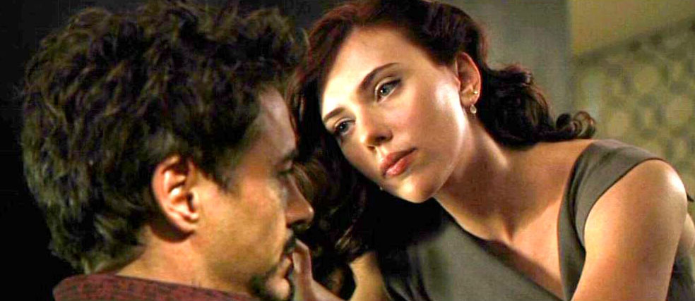 Black Widow taking care of Tony Stark