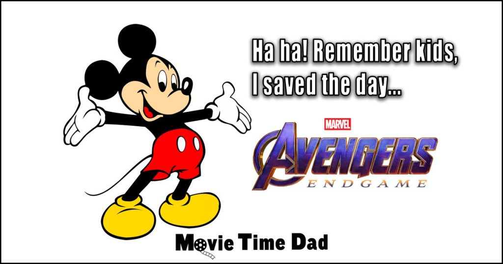 Mickey Mouse saying Remember kids, I saved the day Avengers Endgame