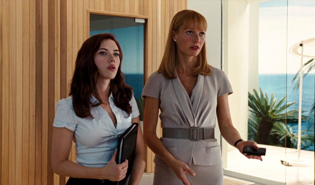 Pepper Potts and Black Widow Iron Man 2