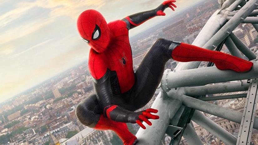 Spider-Man in Spider-Man: Far From Home. Spider-Man returns to MCU.
