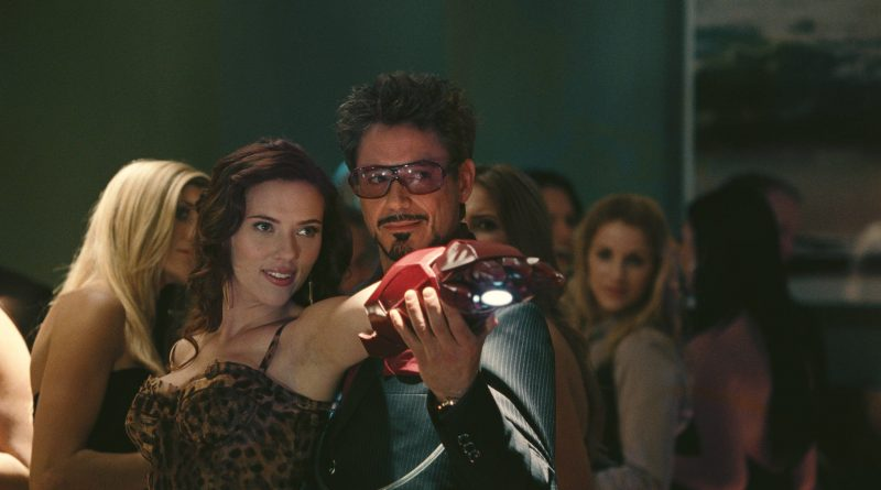 Iron Man hitting on Black Widow