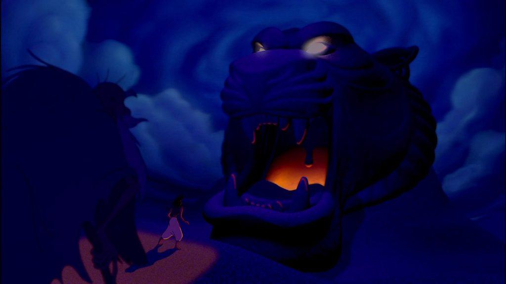 Aladdin (1992) Aladdin entering cave of wonders