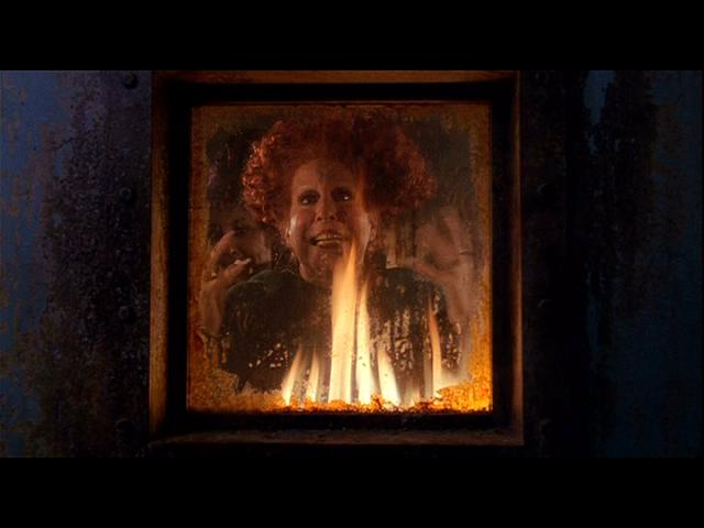 Sanderson Sisters burning in kiln Hocus Pocus