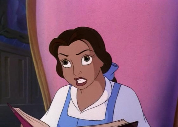 In this rare photo, Belle is shown in the process of crapping out Belle's Magical World.