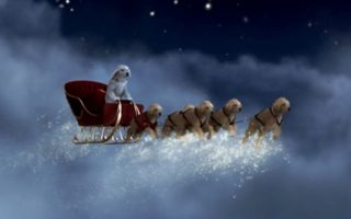 Santa Buddies - Parent Review: Santa Buddies pulling sleigh