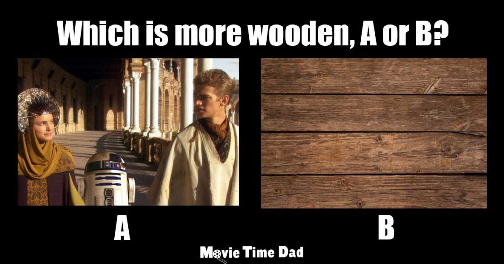 Which is more wooden A or B?
