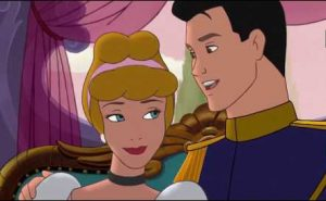 Cinderella and Prince Charming in Cinderella II Dreams come true