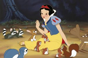 Snow White with woodland critters
