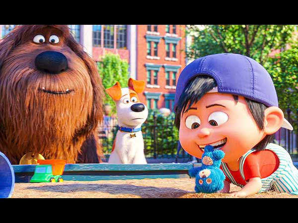 Duke, Max, and baby from Secret Life of Pets 2